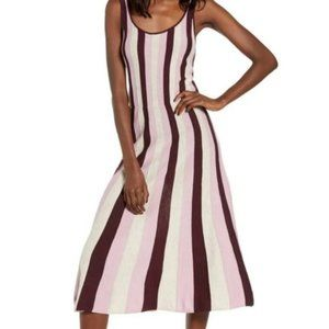 Lovely Leith Purple Striped Airy & Soft Maxi Dress